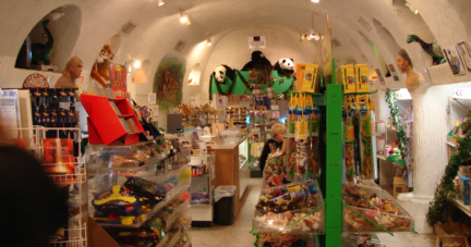 A shot of the store