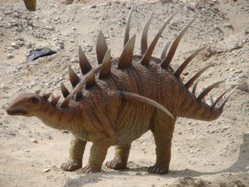 A stegosaur
